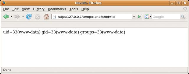 Backdoor webserver using MySQL SQL Injection